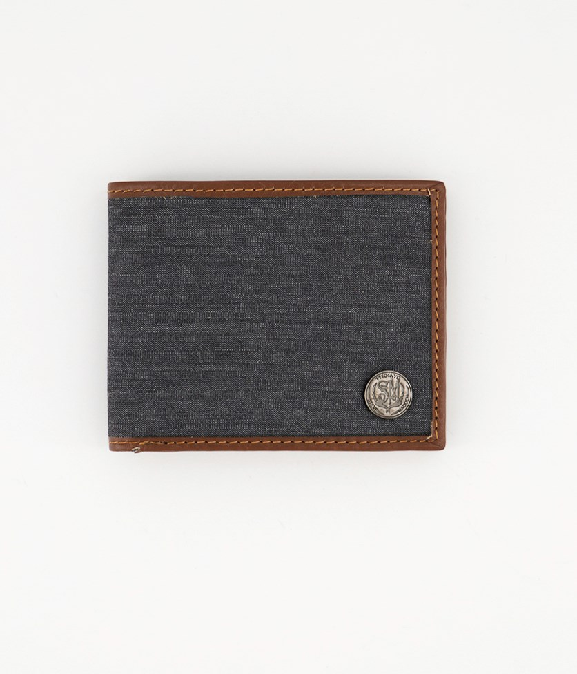 Men's Genuine Leather Wallet, Charcoal