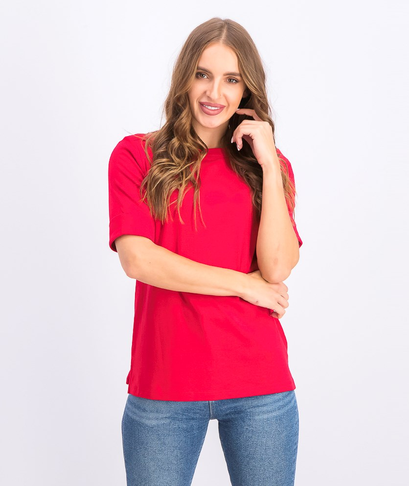 Women's Petite Elbow-Sleeve Top,  New Red Amore