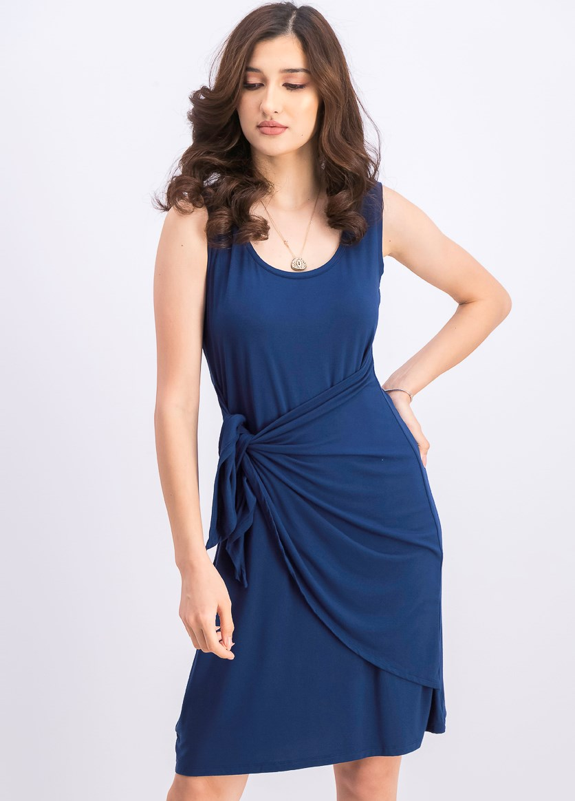 Women's Tie-Front Dress, Timeless Navy