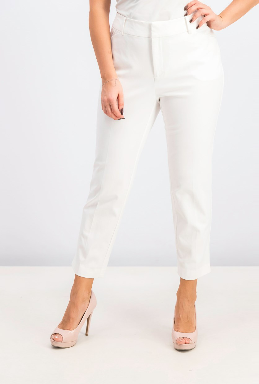 Women's Tummy-Control Cropped Pants, Bright White