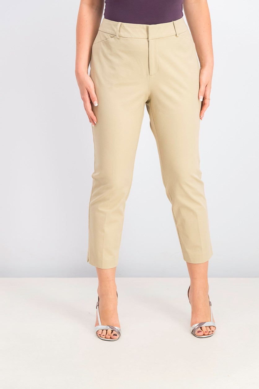 Women's Tummy-Control Cropped Pants, Sedona Dust