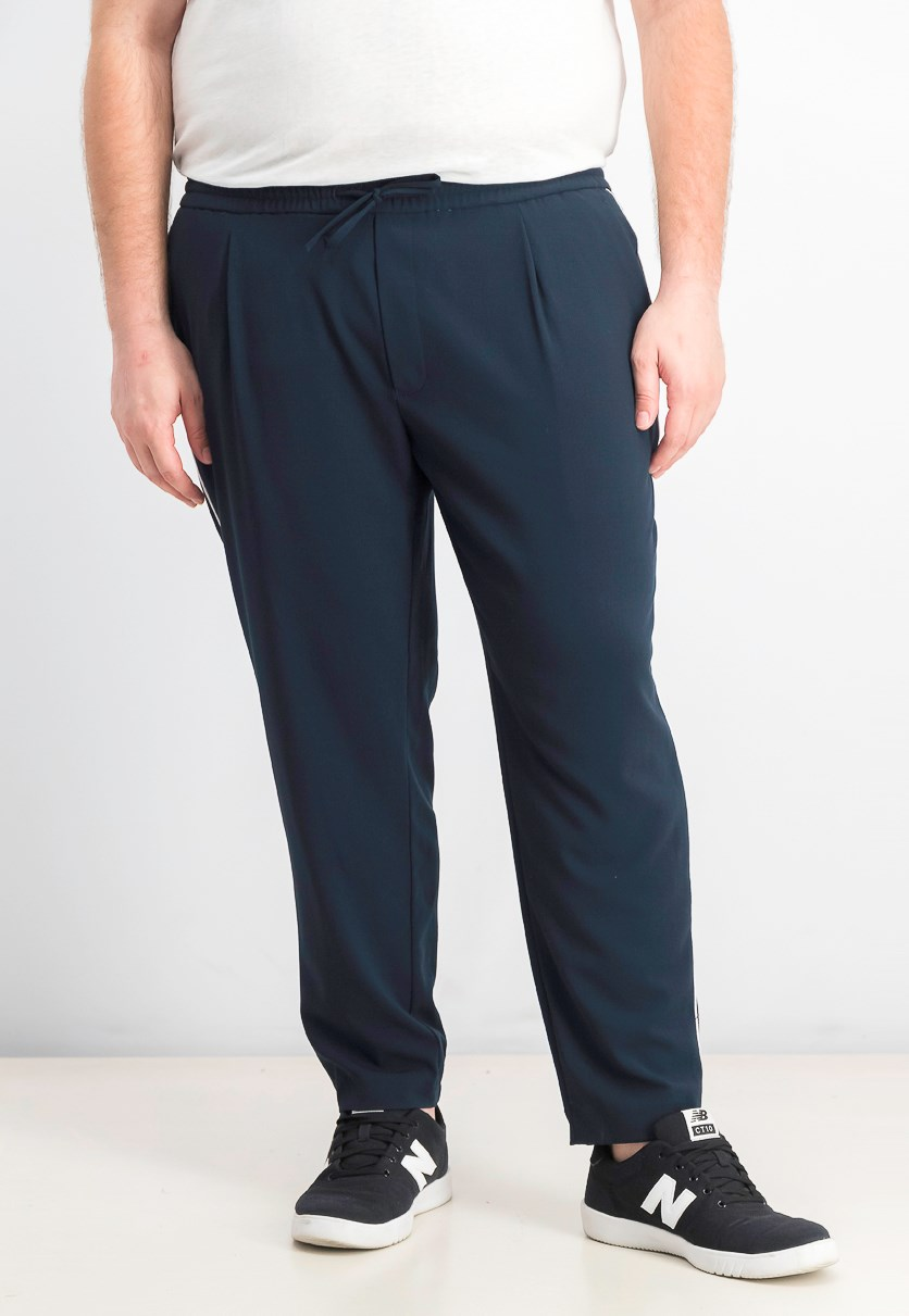 Men's Piped Drawstring Jogger Pants, Blueberry Jam