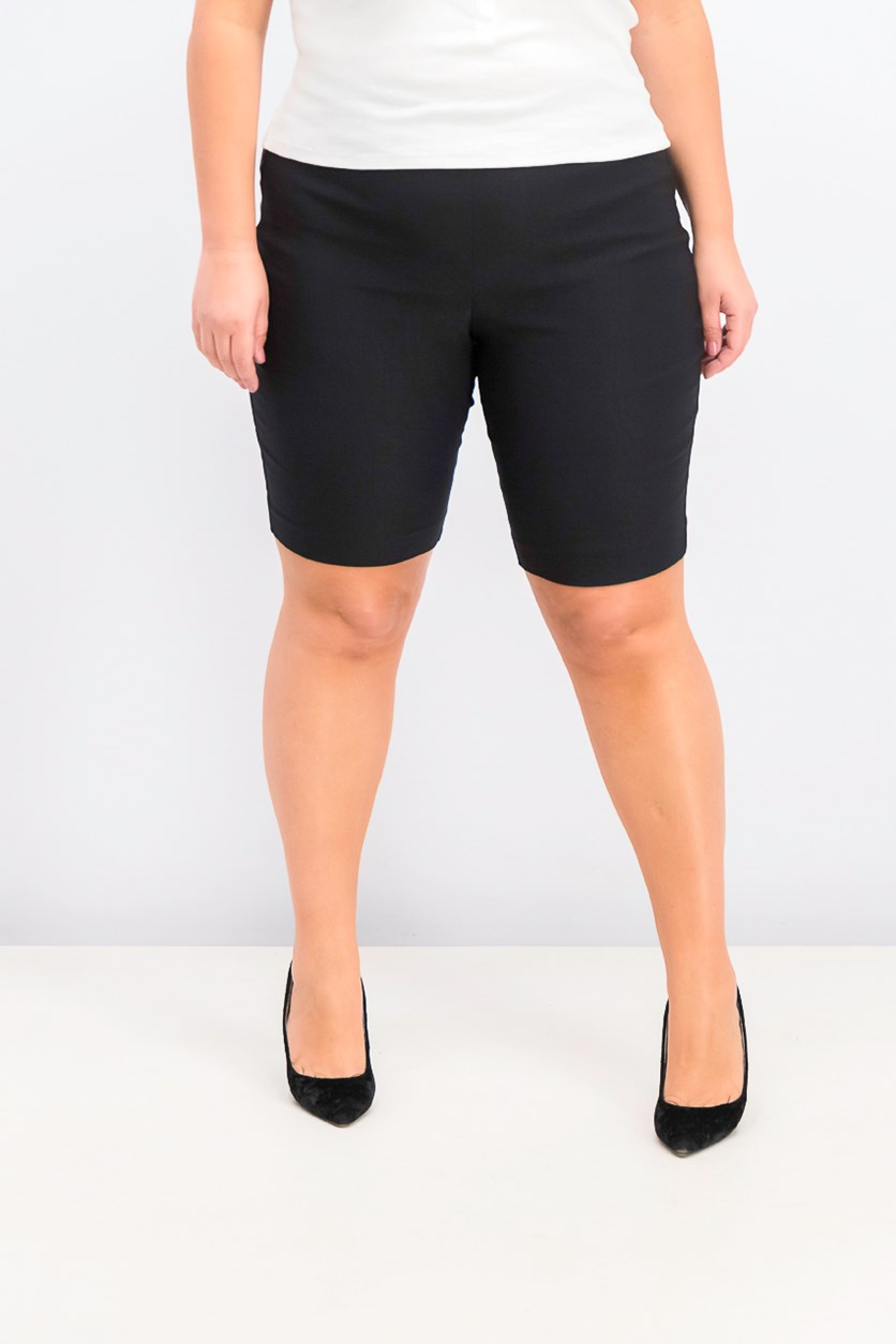 Women's Pull-On Bermuda Shorts, Deep Black