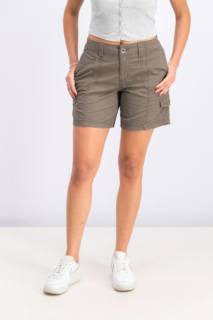 Comfort-Waist Cargo Shorts, Brown Clay