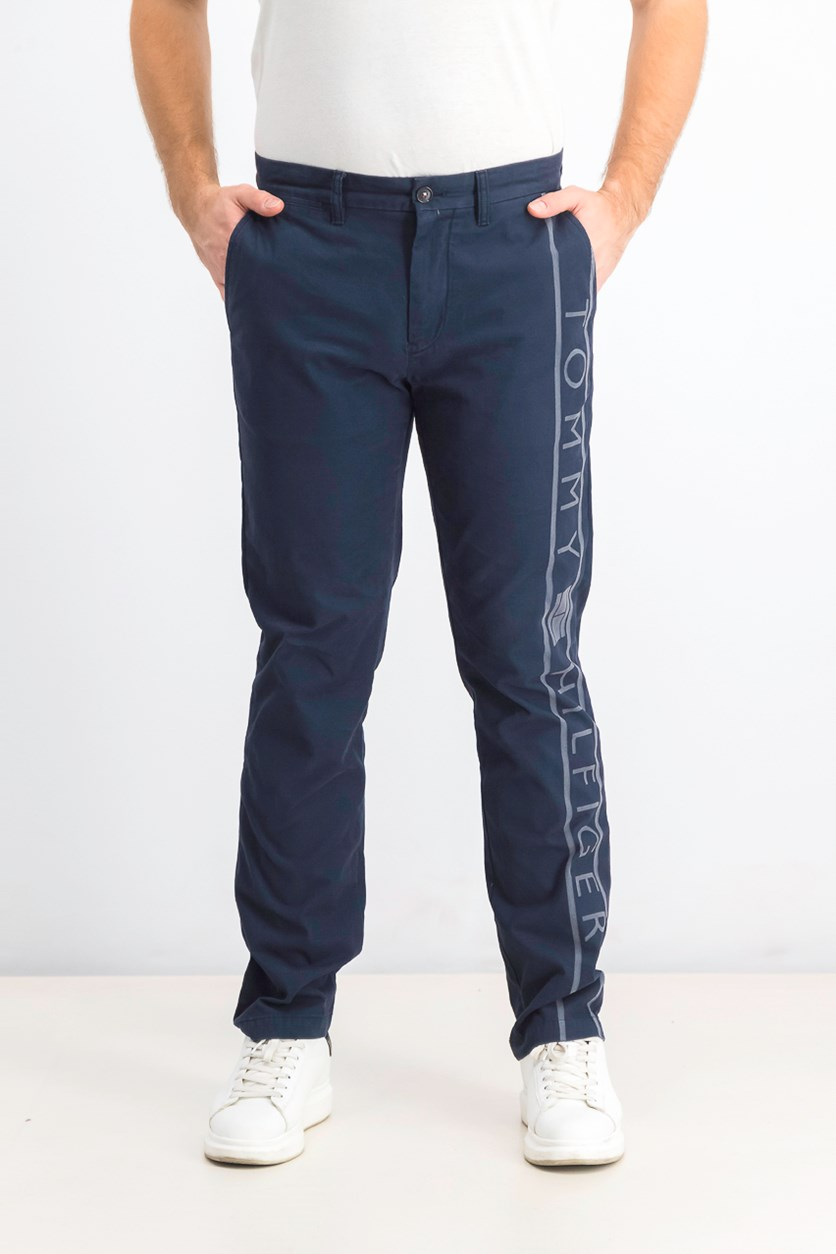 Men's Flynn Logo Chino Pants, Navy