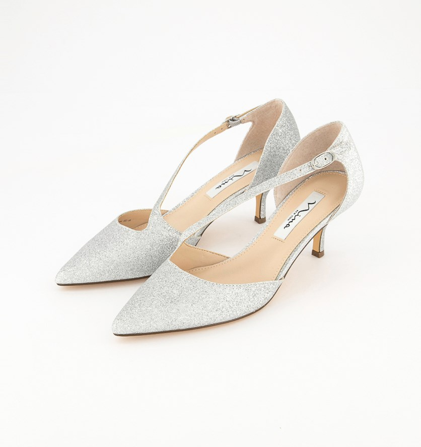 Womens Tirisa Pointed Toe D-orsay Pump, Silver