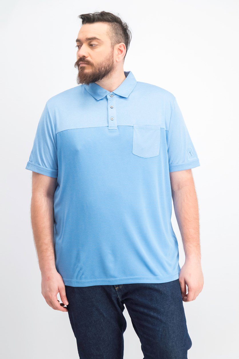 Men's Texturized End-on-End Pocket Polo, Pacific Coast Heather