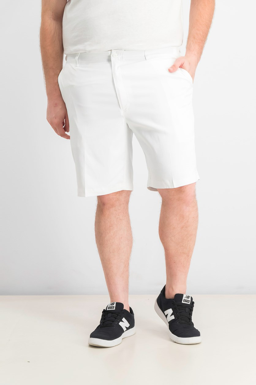 Men's Flat-Front Shorts, Bright White