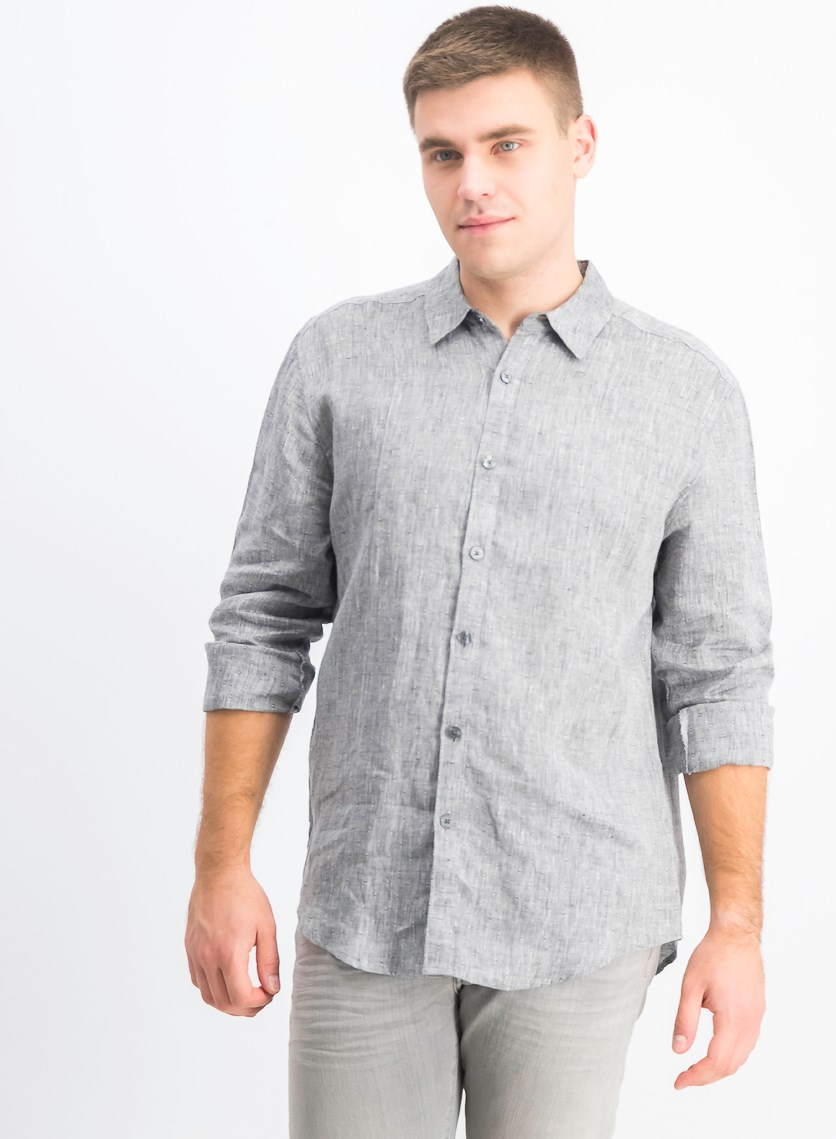Men's Textured Pintuck Shirt, Jet Black