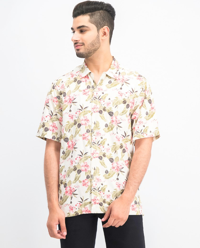 Men's Floral Pacific Paradise Hawaiian Shirt, Continental