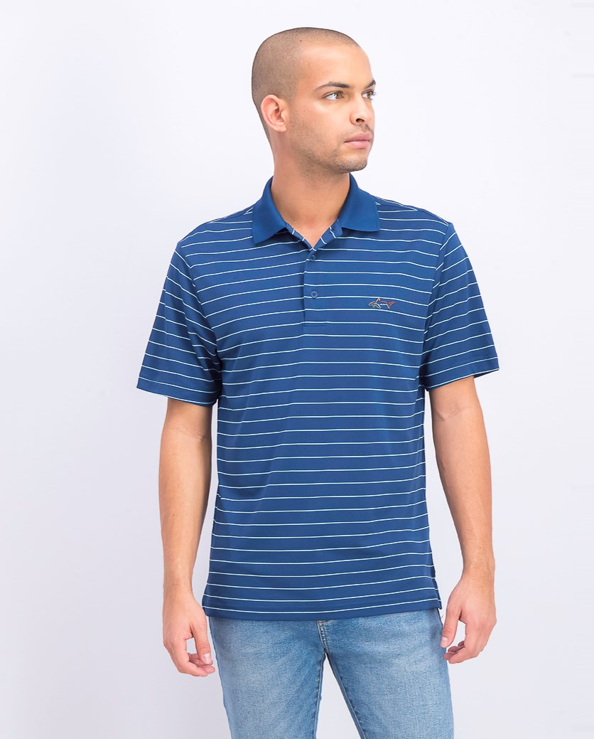 Men's Play Dry Rugby Polo Shirt, Blue Socket