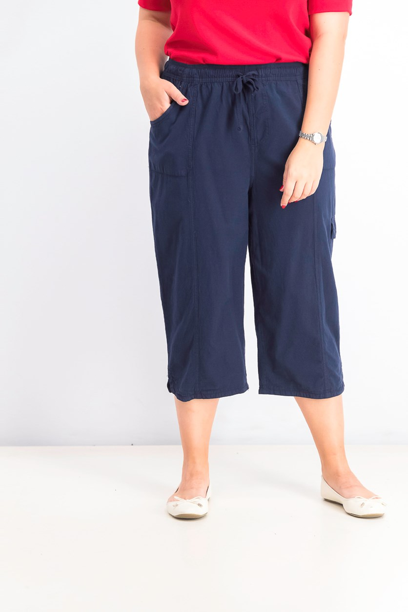 Women's Cotton Cropped Pant, Intrepid Blue