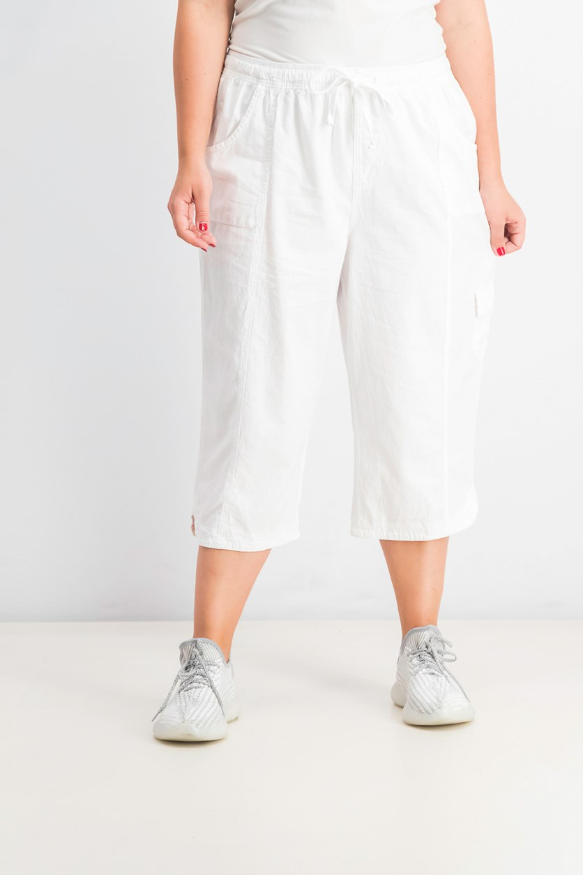 Women's Petite Edna Capri Pants,  Bright White