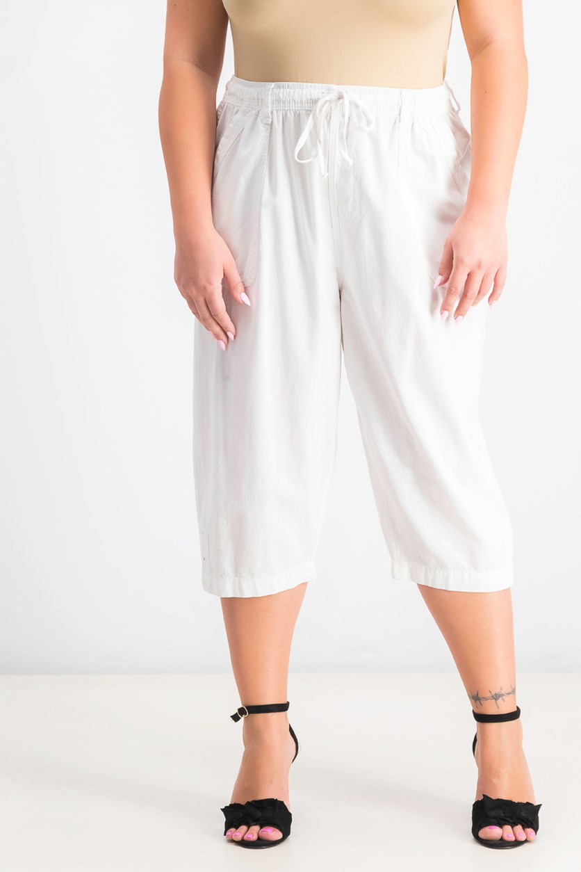 Women's Petite Chino Skimmer Shorts, Bright White