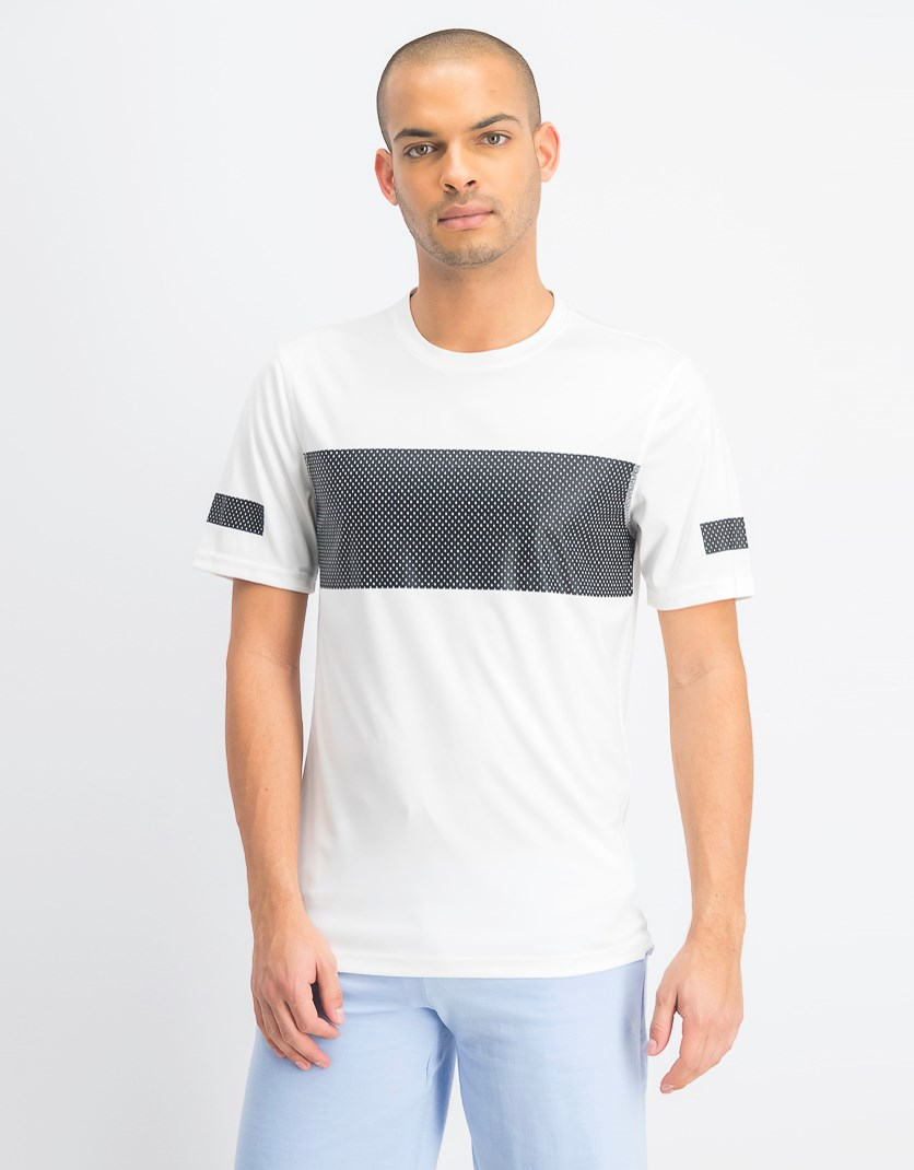Men's Mesh Graphic Print T Shirt, Bright White