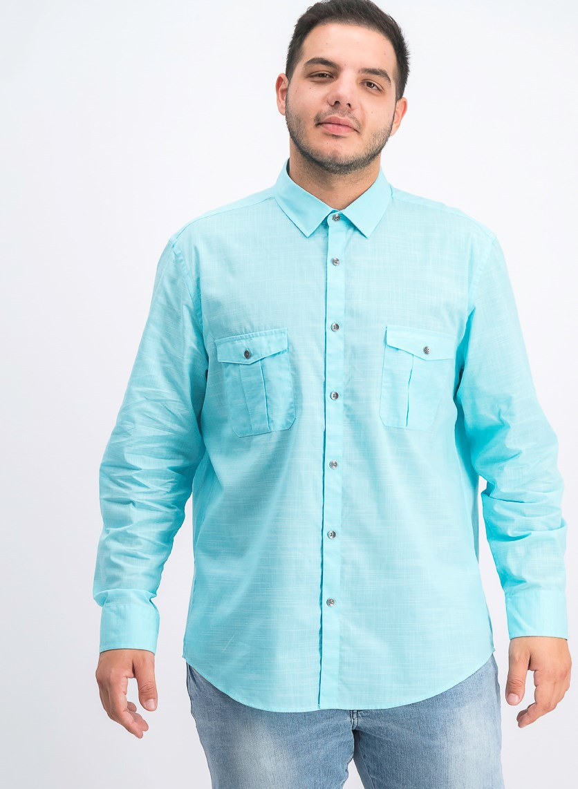 Men's Warren Long Sleeve Shirt, Crystal Mist