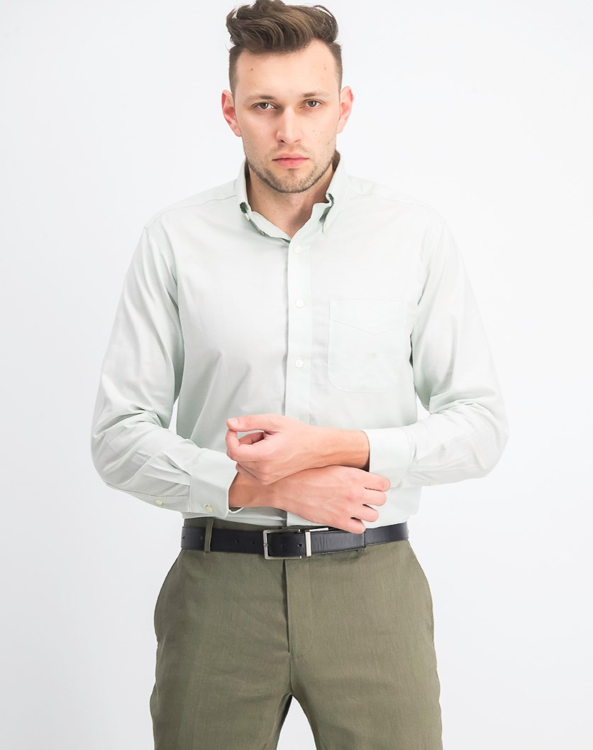 Regular Fit Easy-Care Oxford Solid Dress Shirt, Sage