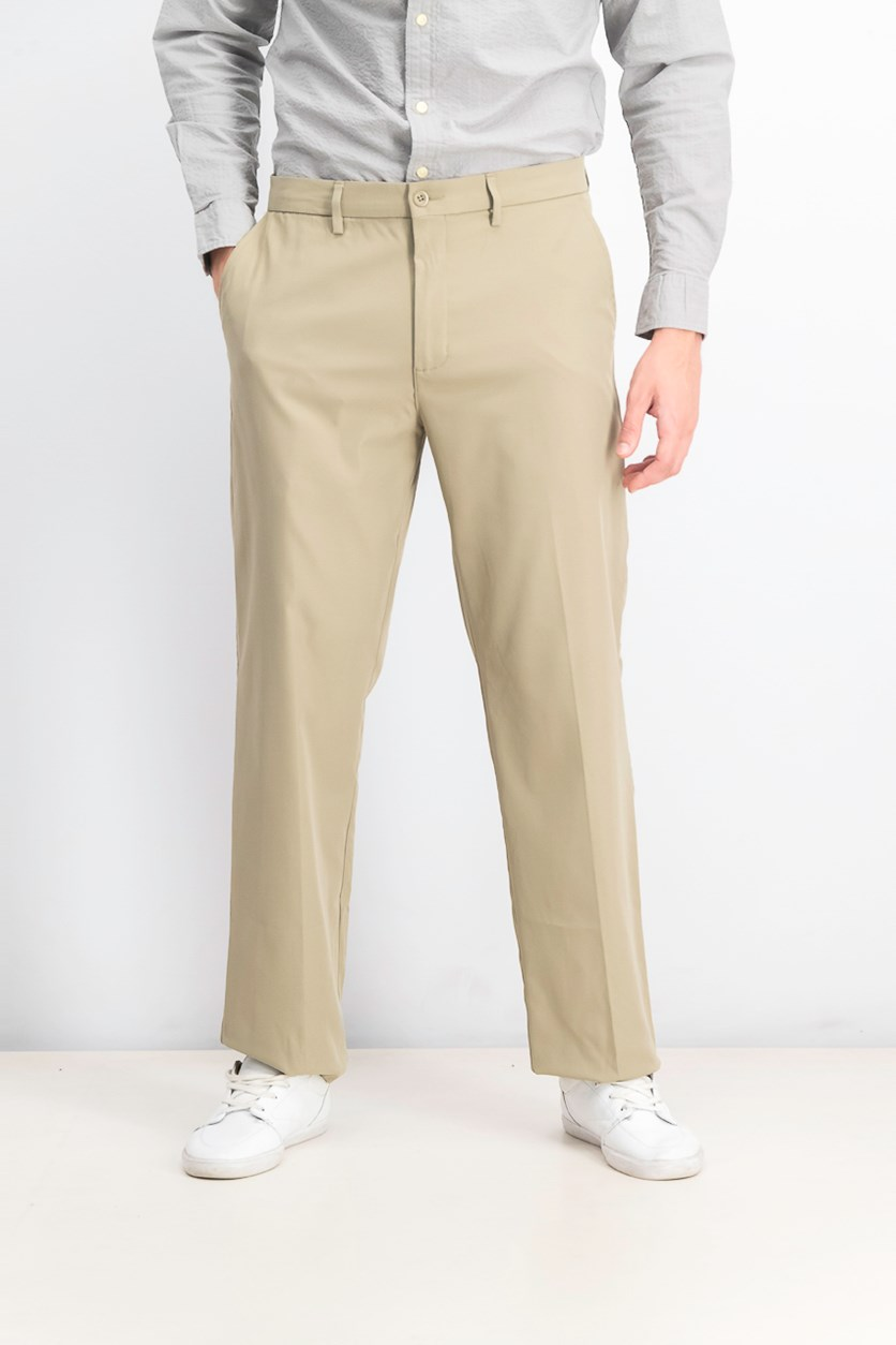Men's Flat Front Pants, Dusty Willow