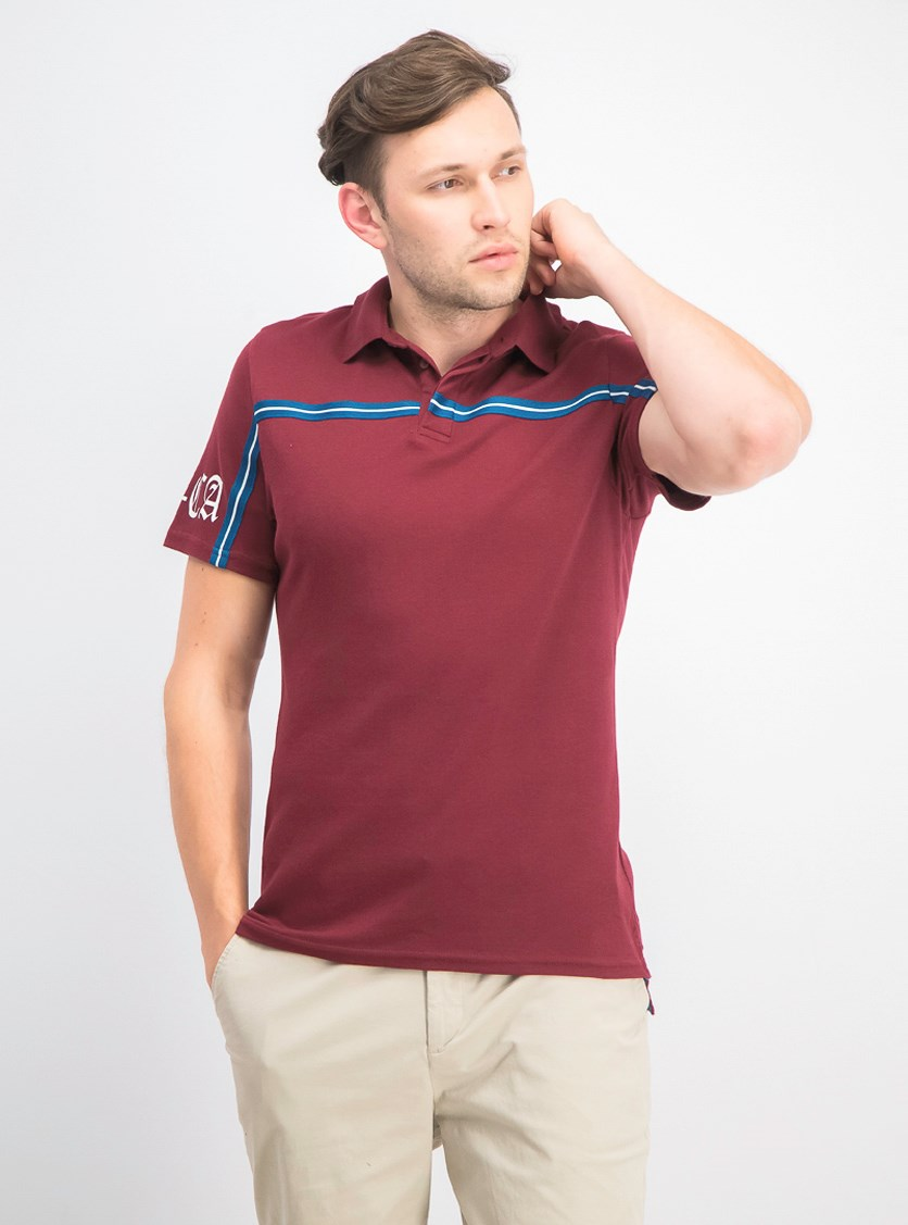 Men's Shadows Polo, Dark Rust