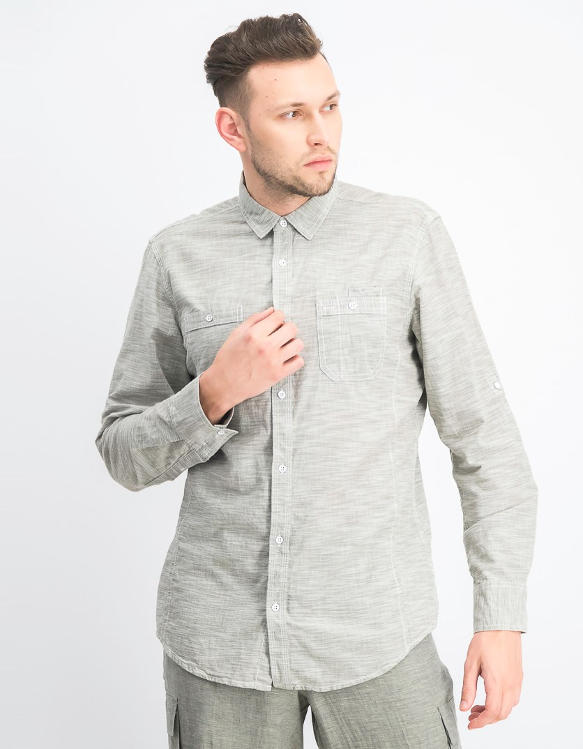 International Concepts Men's Chambray Dual-Pocket Shirt, Tarnished Stem