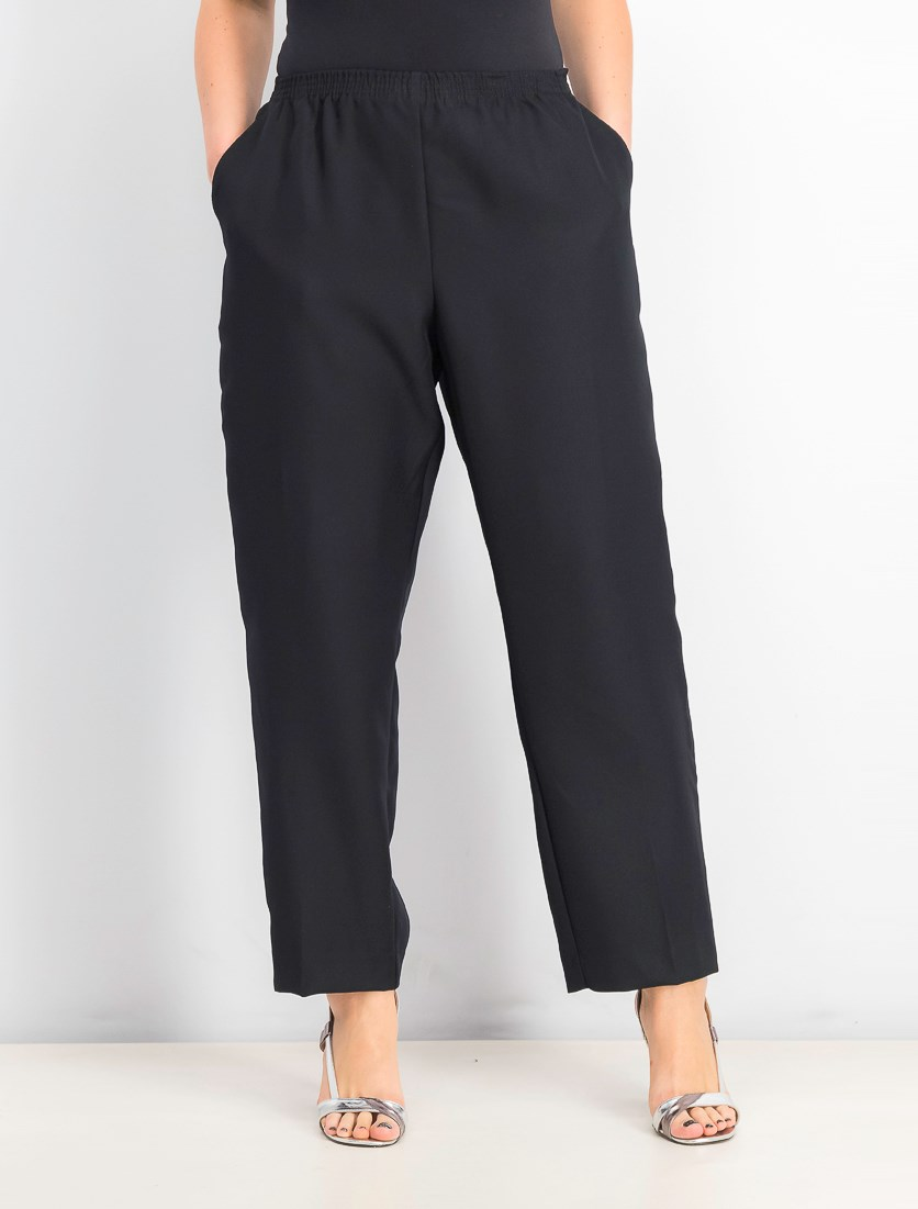Petite Pull-on Pants, Deep Black