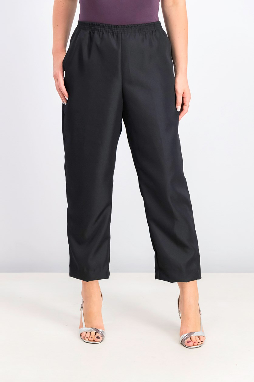 Women's Petite Pull-On Pants, Deep Black