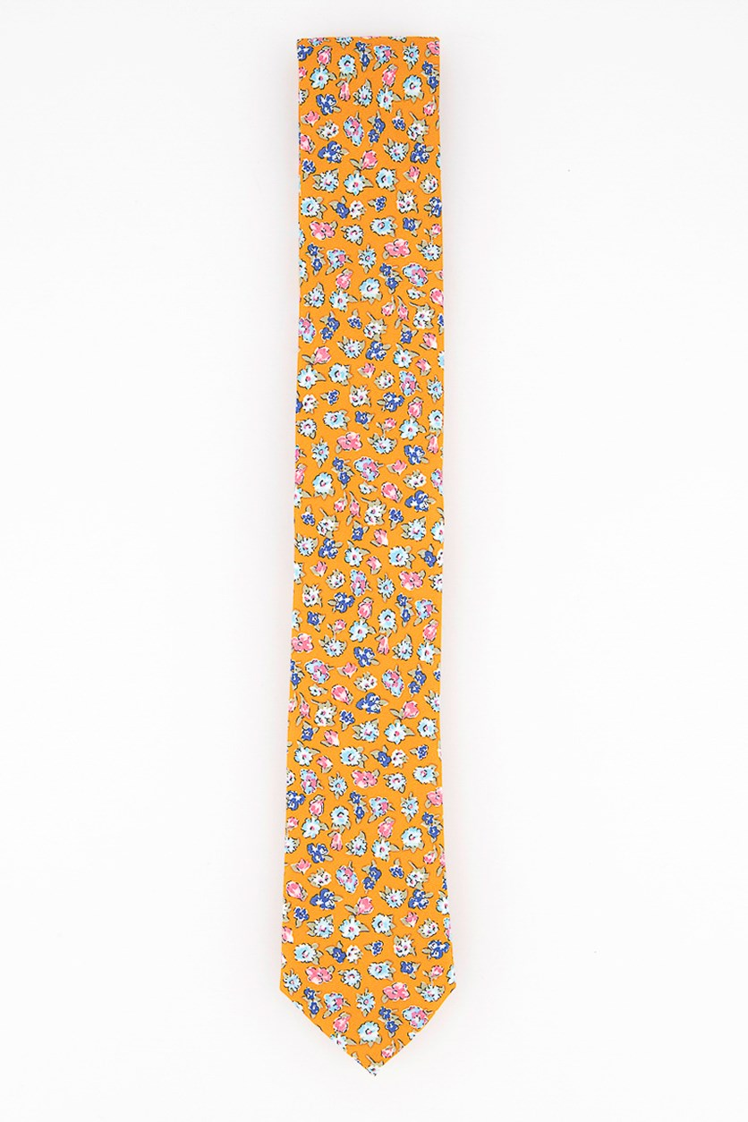 Men's Newbury Floral Tie, Orange