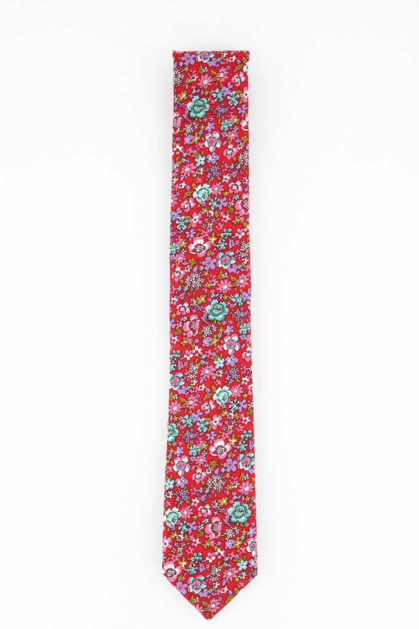 Men's Gooding Floral Tie, Red