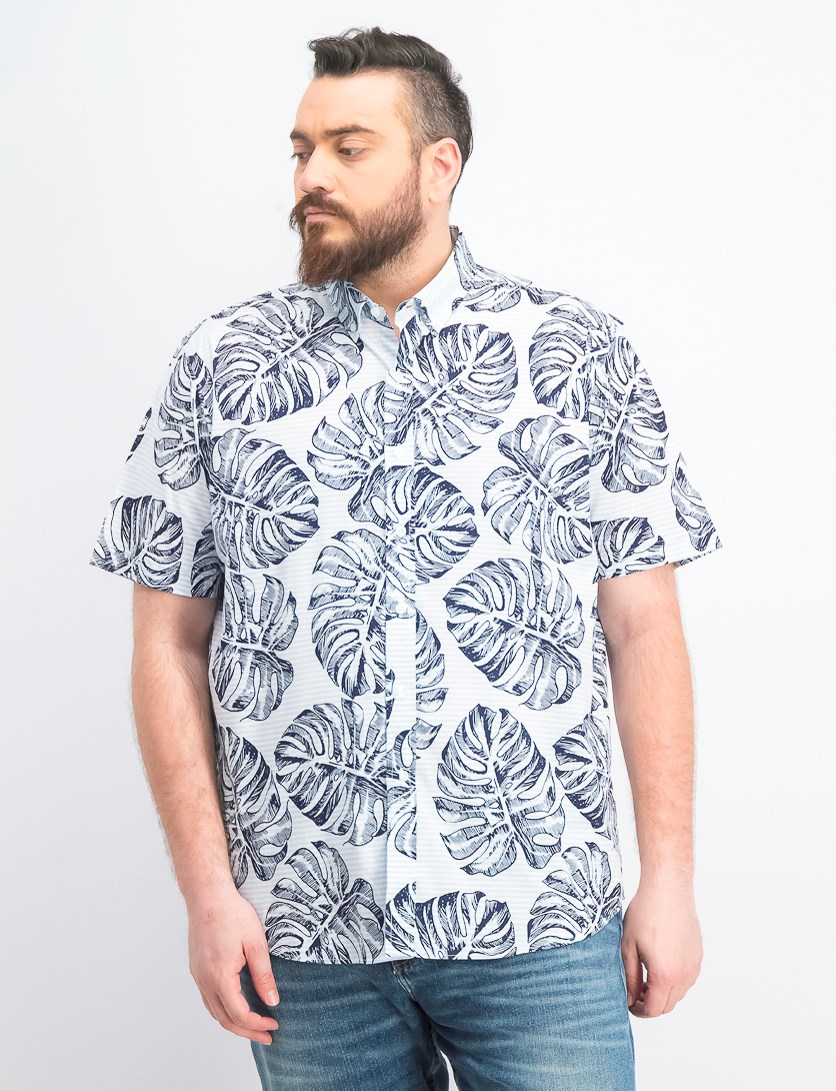 Men's Madison Palm Graphic Shirt, Navy Blue
