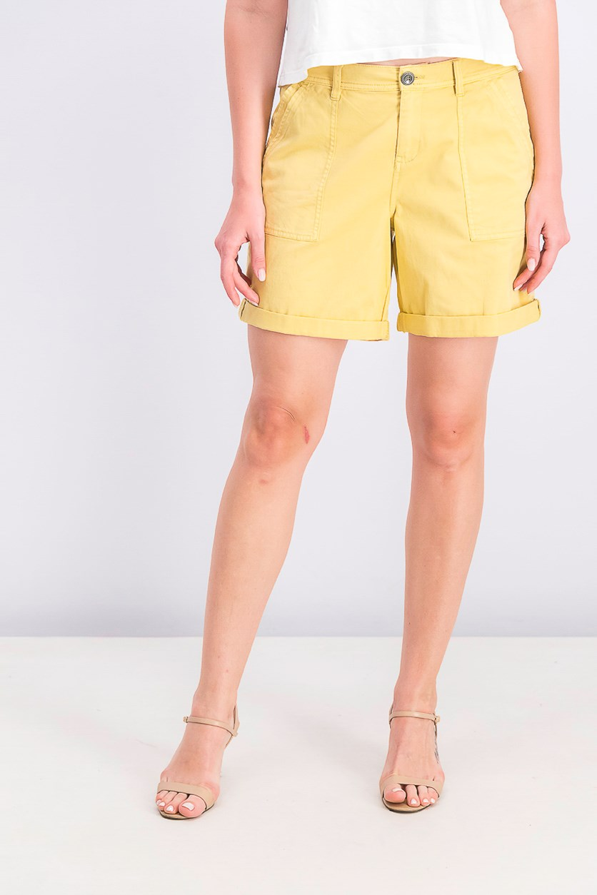 Women's Double-Pocket Cuffed Shorts, Sungold