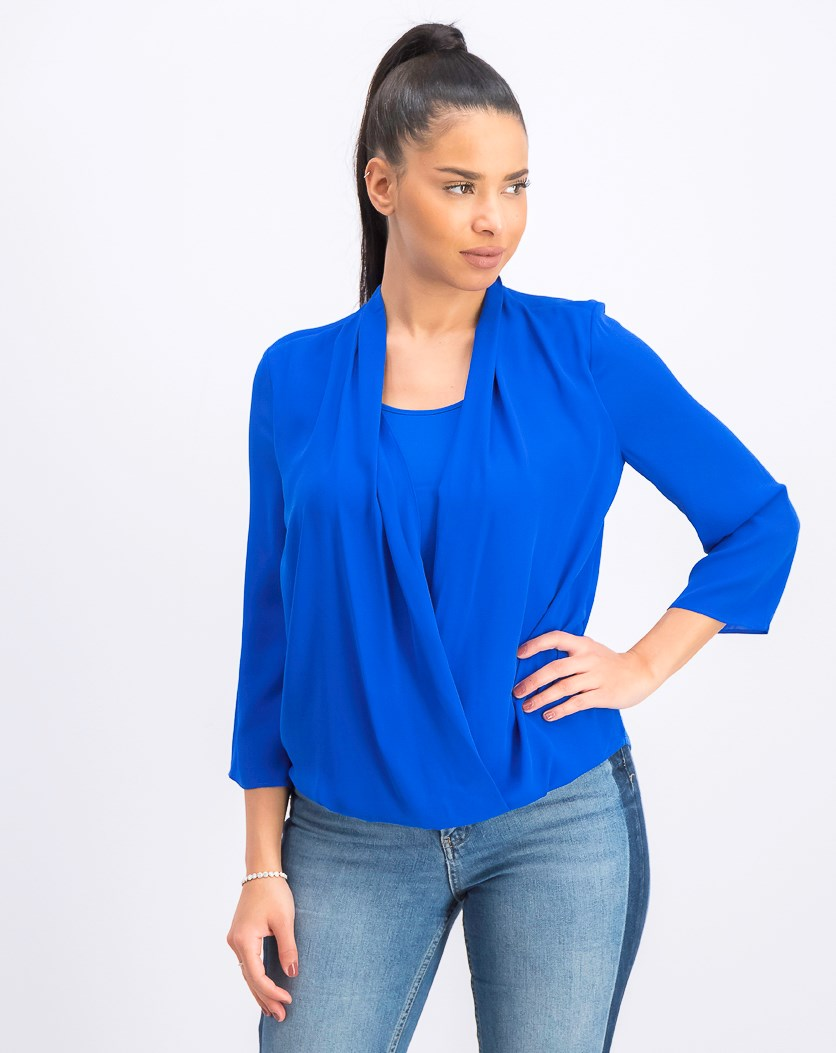 Women's  Surplice Top, Northern Lights