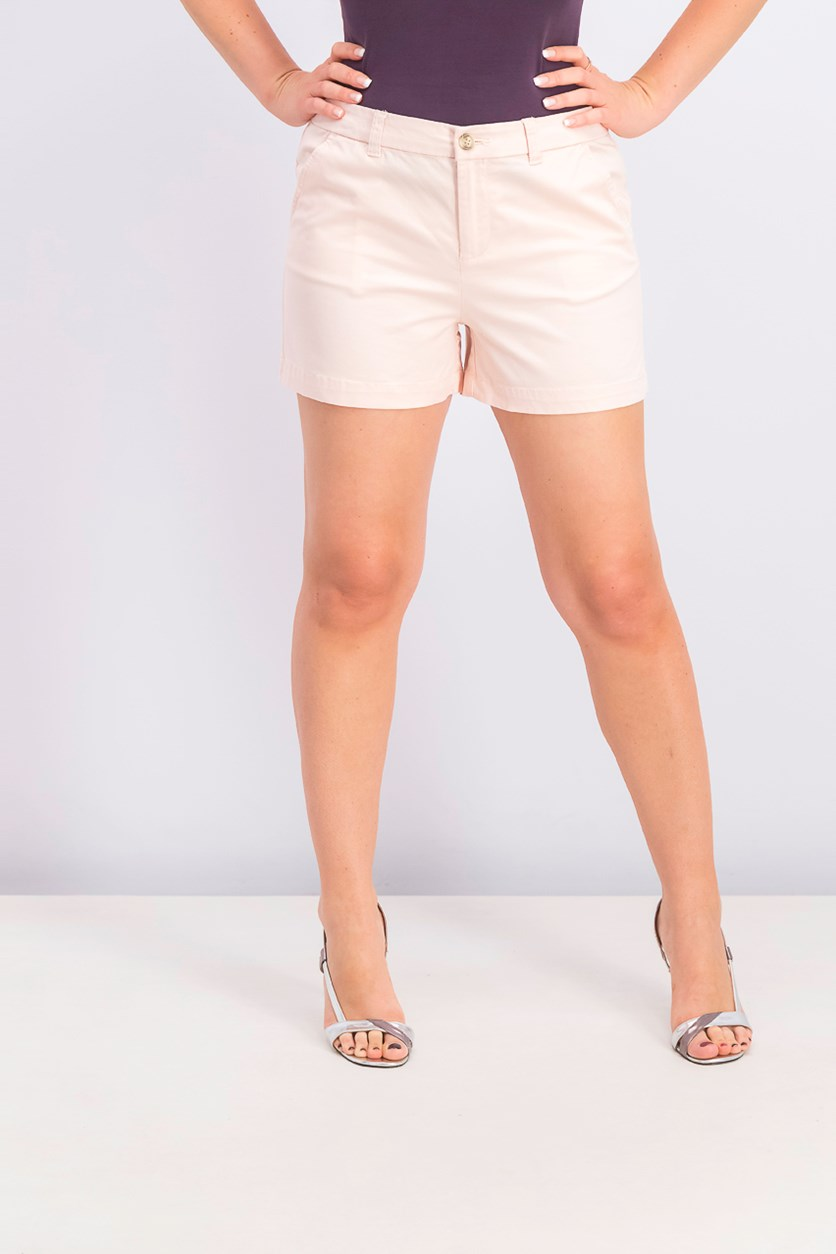 Women's Flat-Front Chino Shorts,  Pink Bliss