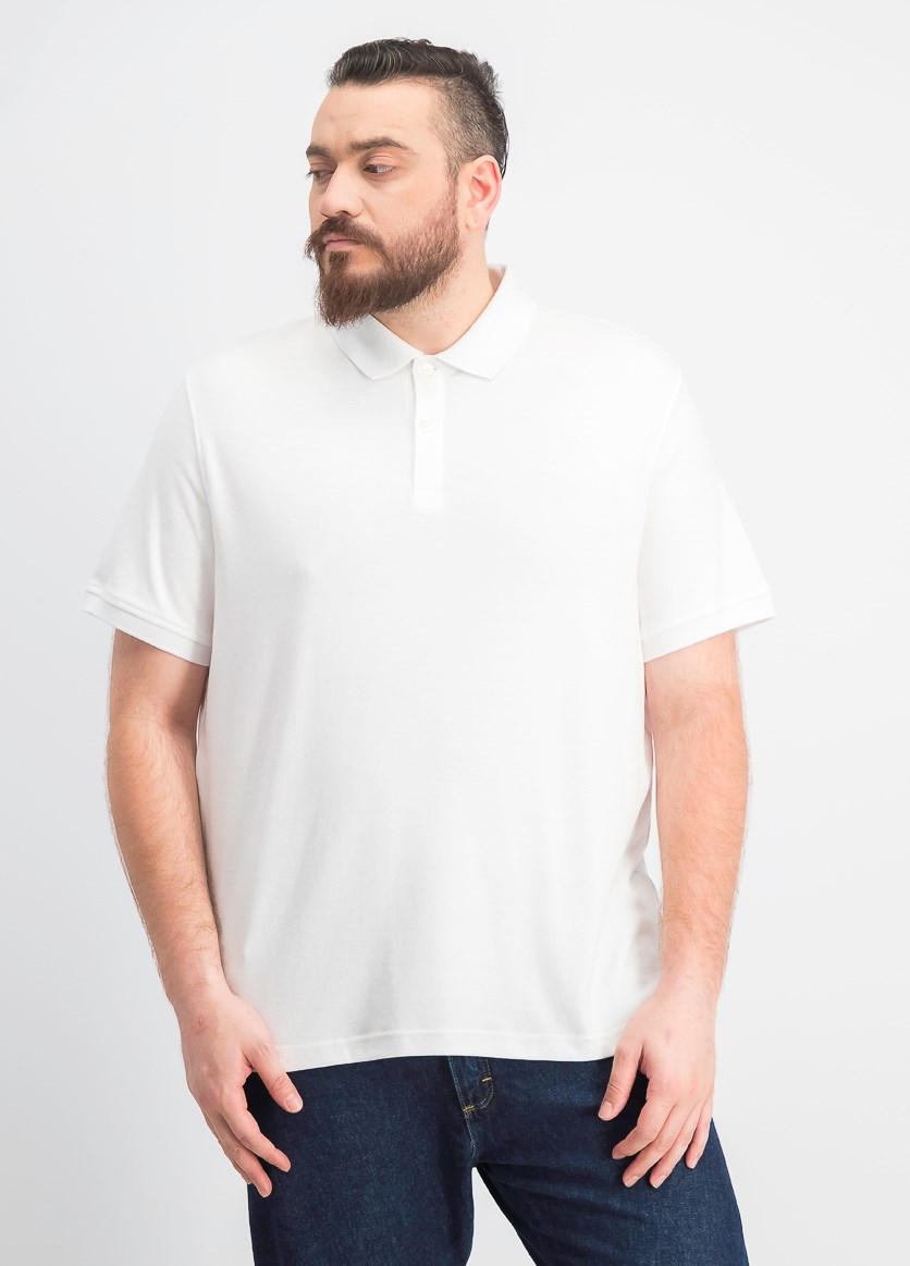 Men's Interlock Short-Sleeve Polo, Bright White