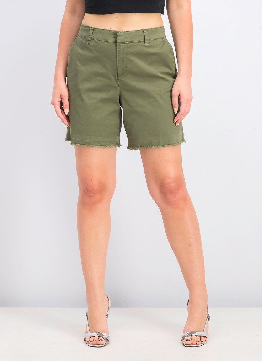 Women's Cutoff Shorts, Olive Spring