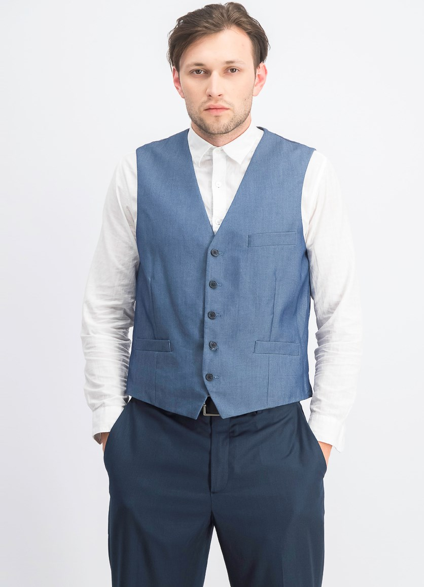 Men's Paul Slim-Fit Vest, Light Blue
