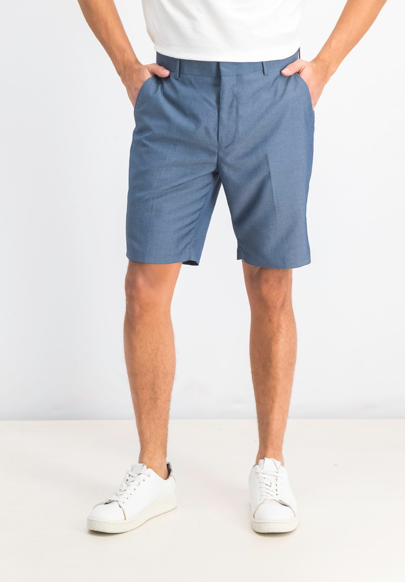 Men's Slim-Fit Chambray Shorts, Navy