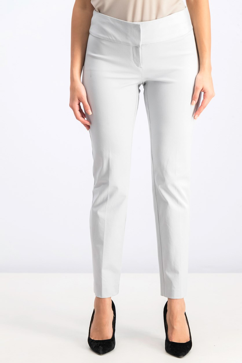 Women's  Slim Straight-Leg Pants, New City Silver