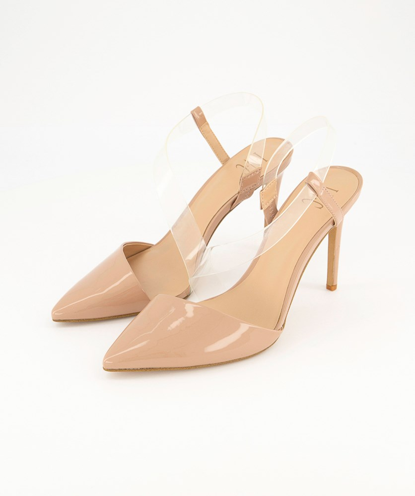 Women's Pointed Toe Ankle Wrap Classic Pumps, Nude