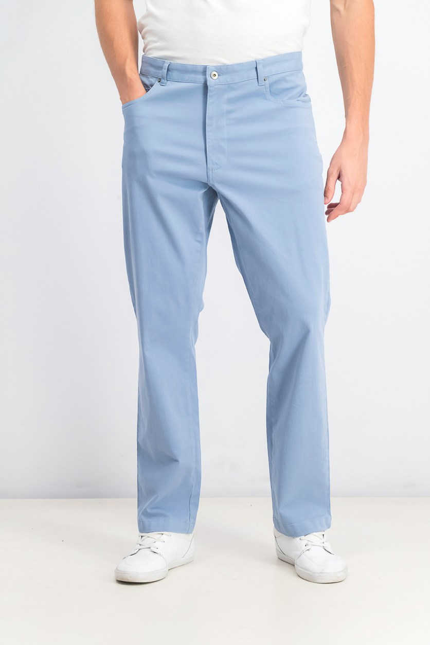 Men's Straight-Fit Stretch Pants, Stone Wash