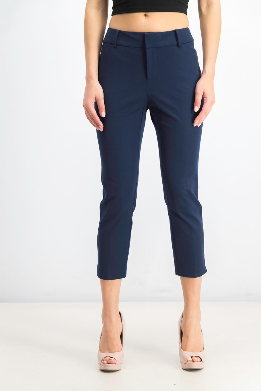 Women's Petite Newport Tummy-Control Cropped Pants, Intrepid Blue