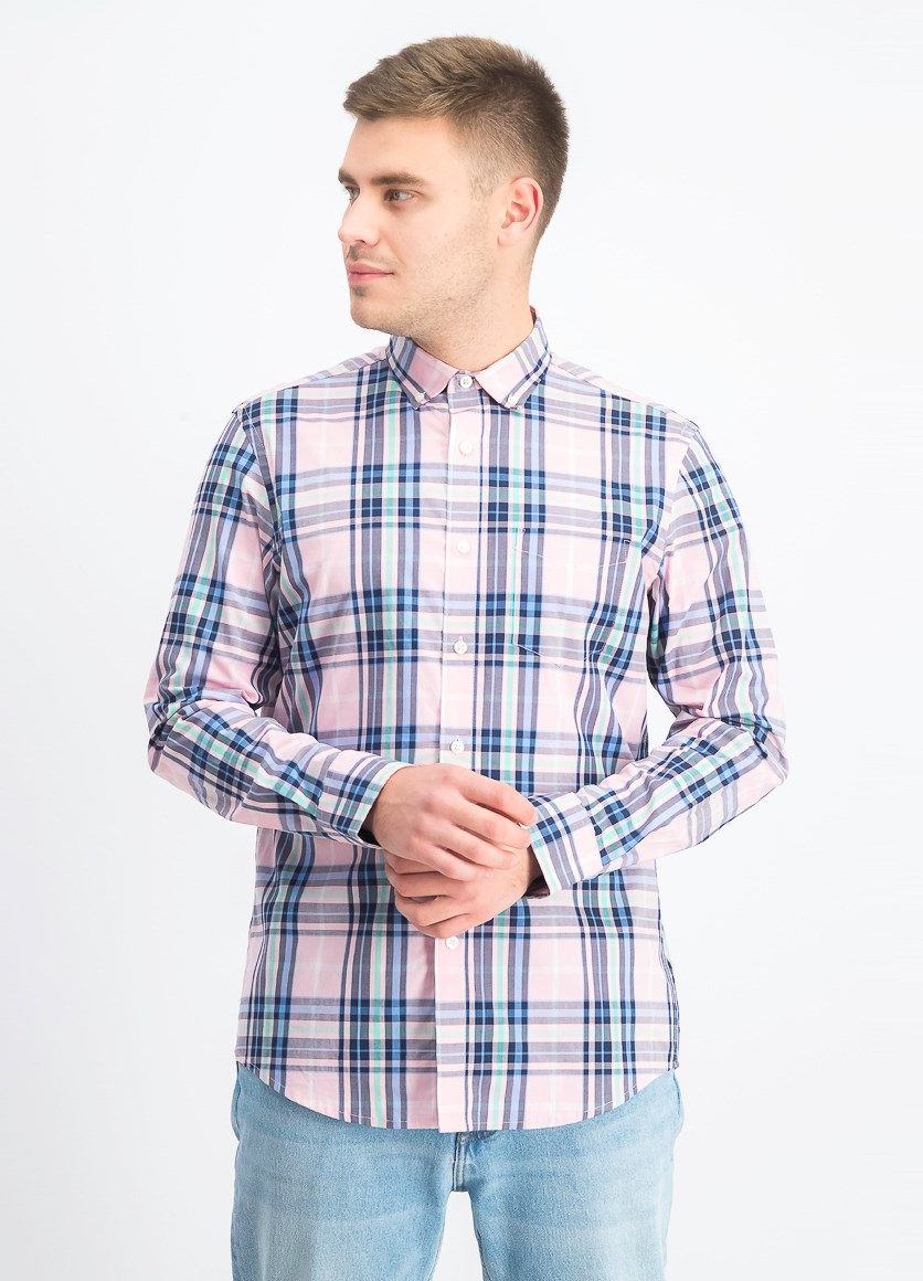 Men's Eliot Plaid Shirt, Pink Combo