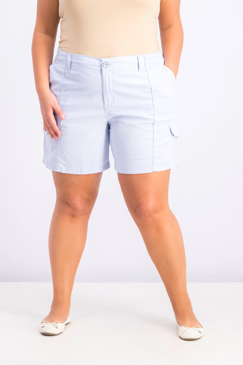 Women's Comfort Waist Cargo Shorts, Billowing Cloud