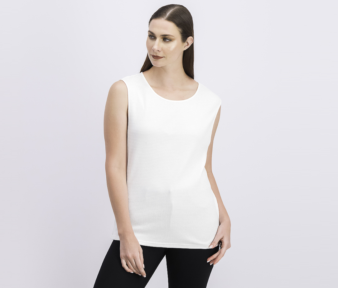 Women's Textured Tank Tops, Bright White