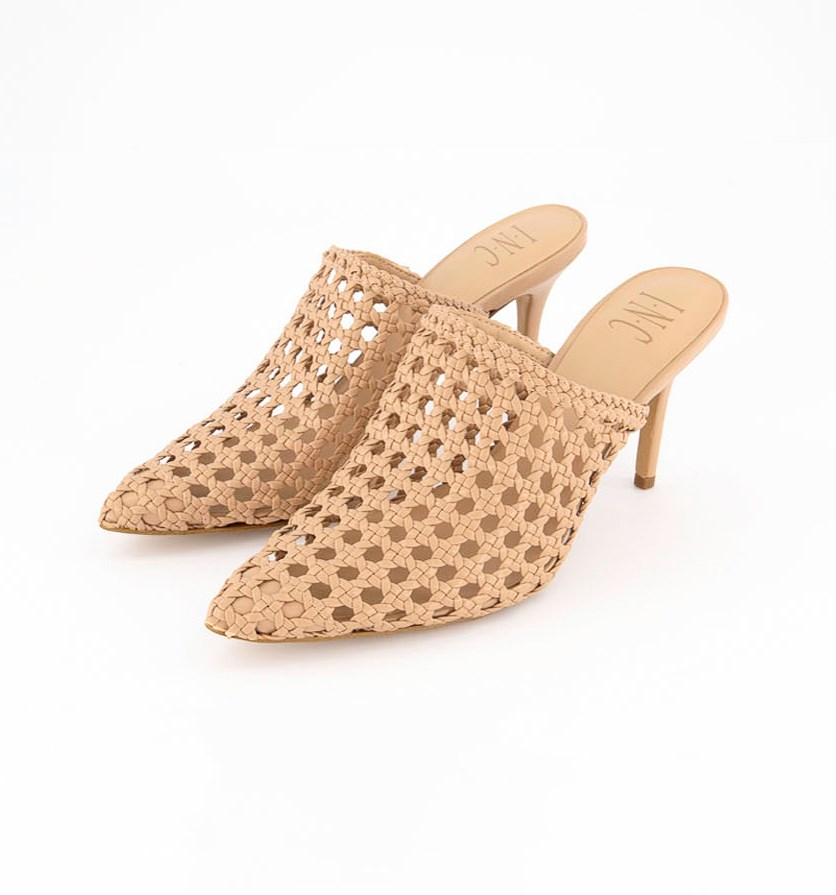 Women's Celestia Woven Mules, Light Beige