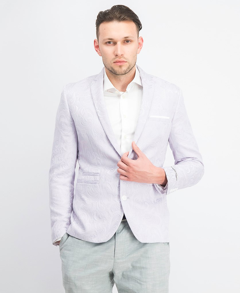 Men's Slim-Fit Paisley Blazer, Evening Haze