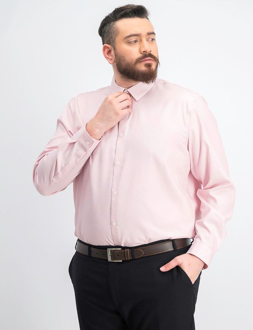 Men's Kurt Non-Iron Shirt, Pink Combo