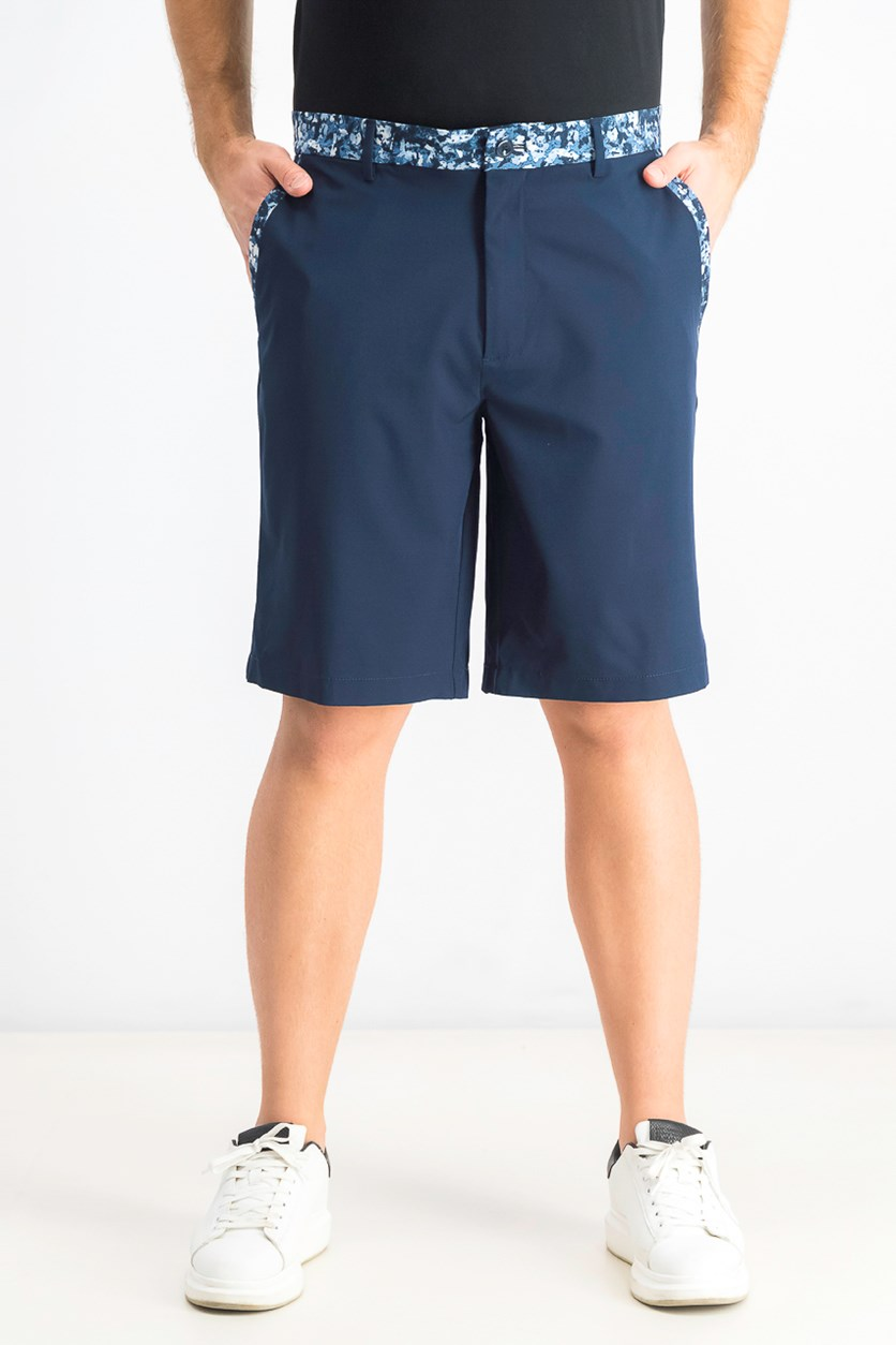 Men's Floral-Trim Shorts, Navy
