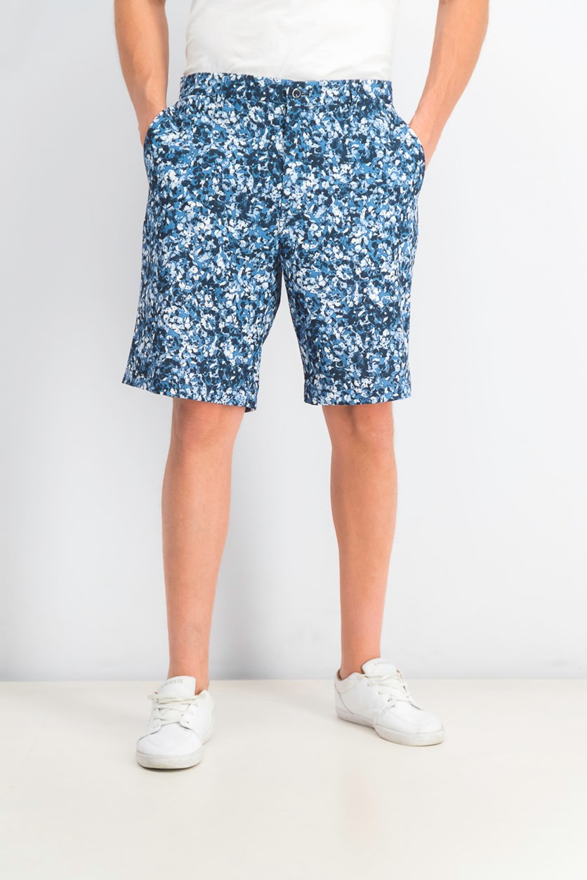 Men's Oakhill Floral-Print Shorts, Basic Navy