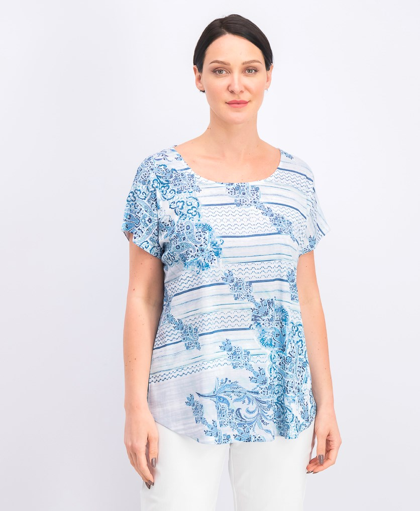 Women's Printed Top, Tide Coordinate