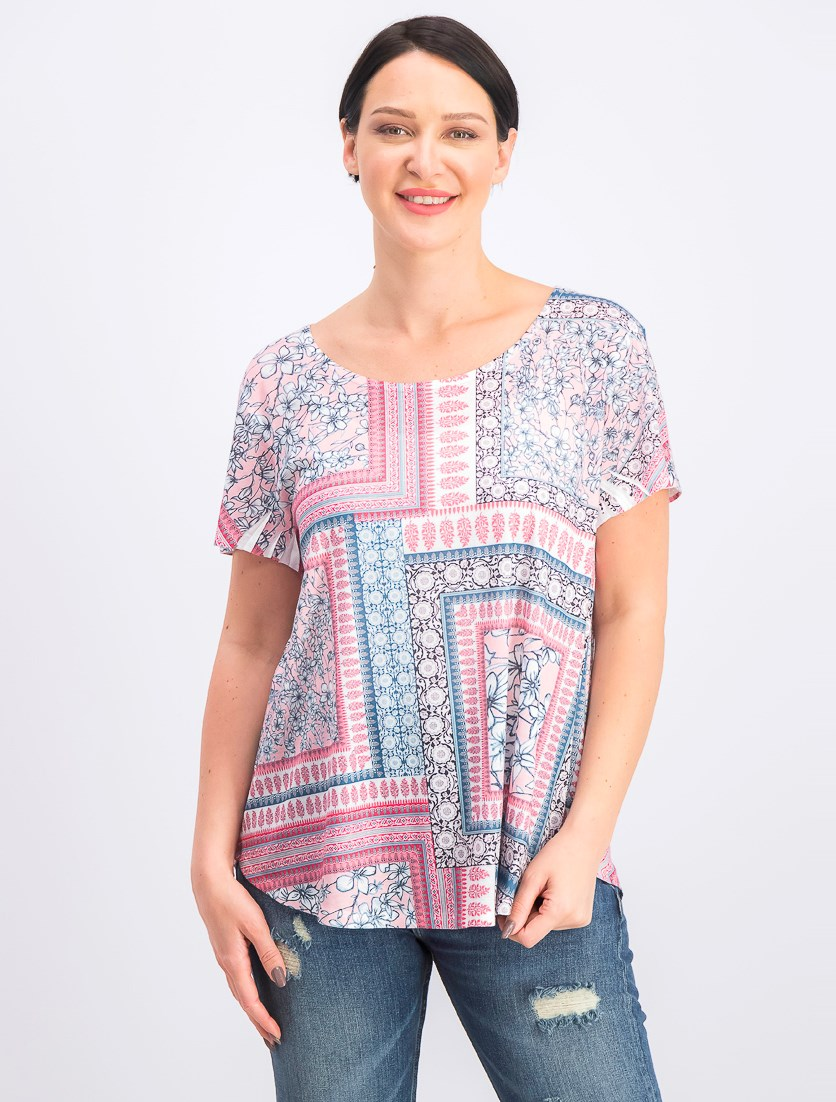 Women's Printed T-Shirt, Garden Rooms